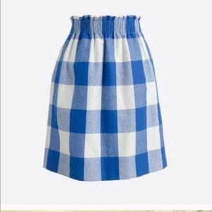 J.Crew Gingham Skirt
